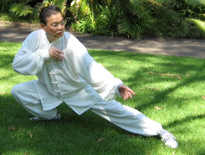 Sam Li demonstrating Tai Chi Fast Form