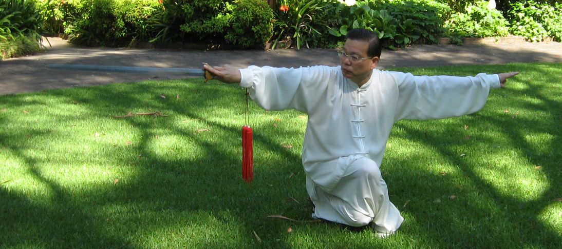 Sam Li demonstrating Tai Chi Sword Form